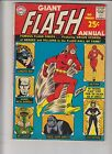 Flash Annual #1 VG+ gorilla grodd - 80 page giant - elongated man - silver age