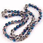 8/10mm Faceted Round AB Crystal Glass Loose Beads Fashion Women Jewelry Findings