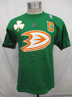 Anaheim Ducks Men M L XL 2XL Reebok Green St. Patrick's Day T Shirt NHL $14.99 USD on eBay