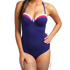 Freya Swimwear Revival Padded Bandeau Swimsuit Indigo NEW 3220 NEW Select Size