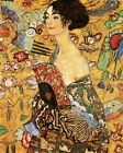 Lady with a Fan Fine Art Great Painting by Klimt 16X20 Vintage Poster Repro
