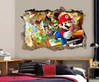 Super Mario Bros Scene Smashed Wall Decal Removable Wall Sticker Luigi H196
