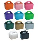 CLEARANCE - Pack of 50 PARTY FOOD BOXES - Range of Solid Colours (Birthday/Kids)