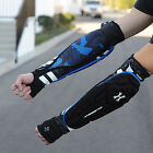 NEW HK Army Paintball Padded Crash Elbow Forearm Arm Pads - Black/Blue