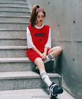 Kpop Bigbang Women Fashion Dress Red Tshirt Shirt Skirt