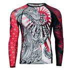 RASH GUARD EXTREME HOBBY LONG SLEEVE YAKUZA FOR MMA TRAINING MMA FIGHT RUNNING