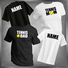 Tennis Mom or Dad (U-Pick) & Personalize T-Shirt All Adult Sizes XS - 6XL