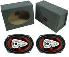 "Boss Car Audio 6X9"" Loaded Angle Cut Boxes & Ch6950 Chaos 600W 5-Way Speakers"