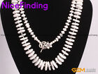 Rondelle Natural White Howlite Bead Necklace Fashion Jewelry For Women Xmas Gift
