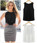 Fashion New Women Summer Chiffon Sleeveless Casual Tank T-Shirt Blouse Tops Vest