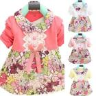Kids Baby Girls Party Dress Pretty Bowknot Tops Tutu Floral Bow Dress Outfits
