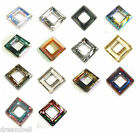 SWAROVSKI Crystal Element 4439 Square Frame Ring Pendant Variable Color & Size