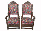 Huge Antique English Pair of Armchairs - D7387