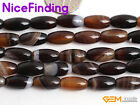 Natural Olivary Smooth Botswana Agate Loose Gemstone Beads For Jewelry Making