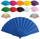 10 x Wedding Bridal Party Folding Chinese Plastic Fabric Hand Held Dance Fan
