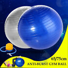 NEW Gym Swiss Ball Exercise Fitness Yoga Pilates Workout w/ Free Pump 65 75cm