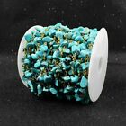 16Ft 5~10mm Turquoise Chips Bead Chain DIY Jewelry Findings AJT044
