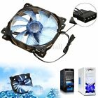 12V 3-Pin/4-Pin 120mm PWM PC Computer Case CPU Cooler Cooling Fan w/ LED Light