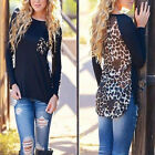 New Women Leopard Long Sleeve Top Casual T-Shirt Blouse Ladies Loose Sexy Top