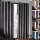 Ring Top Eyelet Thermal BLACKOUT Curtains to BLOCK Sunlight in 8 Sizes