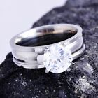 Hot Fashion engagement jewelry Clear CZ Womens wedding Ring Size 7 8 9 10 LOT