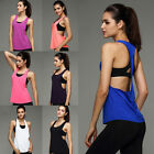 Womens Sports Gym Running Vest Fitness Jogging Yoga Clothes Singlet Tank Top BT
