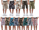 True Rock Men's Camouflage CAMO Belted Cargo Shorts