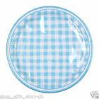 "Pack of 16 Blue Checked Round Paper Party Plates 9"" Tableware Events Catering"