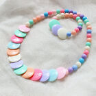 Children Jewelry Toddlers Princes Necklace&Bracelet Candy Color Baby Girls Set