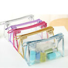 PVC Clear Transparent Case Cosmetic Make Up Bag Toiletry Travel Zipper Gift