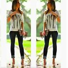 New Fashion Womens Sexy OFF Shoulder Short Sleeve Casual Tops T-Shirts Blouse
