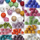 Czech Crystal Rhinestones Pave Clay Round Disco Ball Spacer Beads Crafts 8/10mm