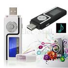 New USB MP3 Music Player Digital LCD Screen Support 8GB Micro SD TF + Earphone
