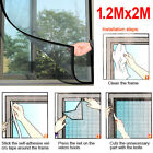 FLY INSECT SCREEN MESH WINDOW DOOR MIDGE BUG MOSQUITO WASP SPIDER 1.2M x 2M/1M