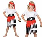 High Seas Pirate Girl Kids Pirates Themed Fancy Dress Costume 3/13 Years