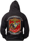 USMC Marines Once A Marine Sweatshirts Hoodies Black M L XL 2XL