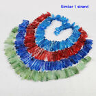 1 Strand Rainbow Dyed Color Cluster Quartz Crystal Point Loose Beads AG0730