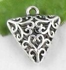 Wholesale 17/38Pcs Tibetan Silver  Charms Hollow  17x19mm(Lead-free)
