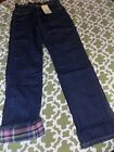 NWT Mini Boden Boys 10, 11 or 12 Denim Flannel Lined Jeans Pants NEW