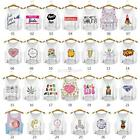 Summer Casual Women Cami Tank Vest Sleeveless T-Shirt Cartoon Print Crop Top New
