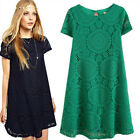 Womens Sexy Boho Short Mini Dresses Ladies Summer Beach Party Sundress Size 6-22