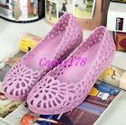 Womens Sandal candy Jelly Hollow Out Slip On Ventilate Breath Summer Beach Shoes