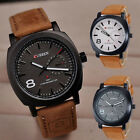 Fashion Sport Military Watch Men's Classic Quartz Leather Strap Wrist Watches