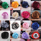 Women Girl Rose Flower Cloth Hair Clip Flowers Brooches Costume Accessories