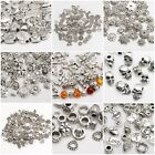 Wholesale 45g Silver Plated Loose Spacer Beads Charms For Jewelry Making DIY