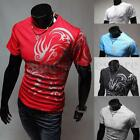 2016 NEW Men's Tattoos Printed Short Sleeve Crew Neck Tee T-Shirt Slim Fit Tops