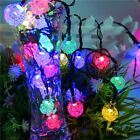 4.8M 20Leds Solar Powered Cystal Ball Fairy String Lights Outdoor&Garden Decro