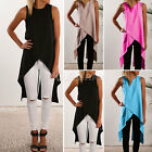 New Women Ladies Casual Sleeveless Vest Blouse Summer Shirt Long Tops Dress