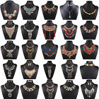 Women Lady Pendant Chain Crystal Choker Chunky Statement Bib Necklace Jewelry