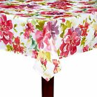 "Assorted Sizes ""Pink Fiona"" Red Pink Purple Floral Fabric Tablecloth FREE SHIP"